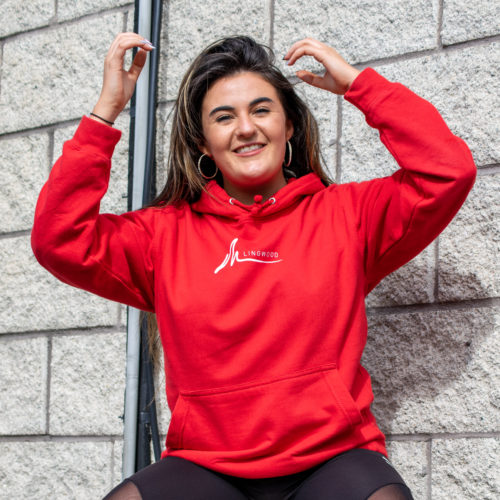 Live your Life Hoodie Red